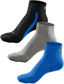 Bonprix Krótkie skarpetki Puma (3 pary) niebieski + szary + ciemnoniebieski