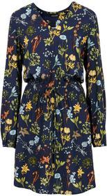 Bonprix Sukienka z nadrukiem ciemnoniebieski z nadrukiem