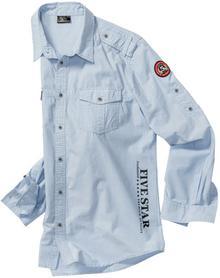 Bonprix Koszula z długim rękawem Regular Fit jasnoniebieski melanż