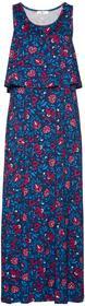 Bonprix Sukienka warstwowa niebieski Chagall w kwiaty