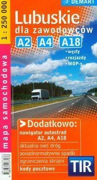 Demart Lubuskie dla zawodowców mapa samochodowa - Demart