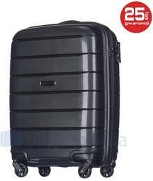 Puccini Mała kabinowa walizka MADAGASCAR PP013C 1 Czarna - czarny PP013C 1