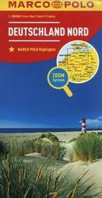 Marco Polo praca zbiorowa Mapa drogowa . Niemcy Północ 1:500 000
