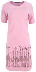 Koszula nocna z żyrafkami (jasnorożowa) : Rozmiar - XXL