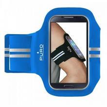 """PURO Armband - Uniwersalna sportowa opaska na ramię do smartfonów max 5.1"""" (niebieski) UNIBANDBLUE"""