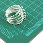 CreativeHobby Srebrna baza do pierścionka - oczka 19 mm 160671