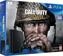 Sony PlayStation 4 Slim 1TB Czarny + CALL OF DUTY WWII
