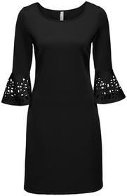Bonprix Sukienka z wycięciami czarny