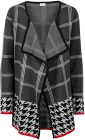 Bonprix Sweter bez zapięcia czarny