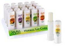 Laura Conti Coloris Sp. z o.o. Herbal ziołowe balsamy do ust ZESTAW 20 szt. 7474-6475C