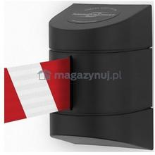 Tensator Taśma ostrzegawcza rozwijana w kasecie montowanej na śruby. MIDI. Zapięcie przeciwpaniczne (Długość 4,6 m)