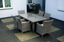 IDAHO 185 - stół ogrodowy z fotelami - meble ogrodowe technorattan - NR 0036