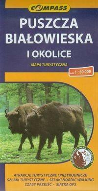 Puszcza Białowieska i okolice mapa turystyczna 1:50 000 Compass