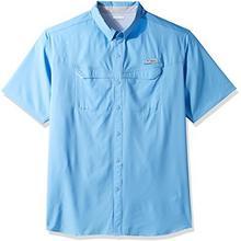"Columbia Men's upuść ""Low Offshore Short Sleeve Shirt, White, X-Large Tall B01HJCTZ0W"
