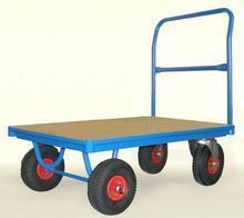 008 00853959 Wózek platformowy z jednym uchwytem czołowym rurowym wymiary 1050x700 mm) 53959-uniw