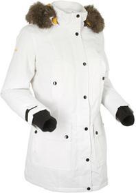 Bonprix Długa kurtka outdoorowa biel wełny
