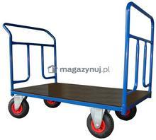 WIZ Wózki Wózek platformowy dwuburtowy. Wym. 1200x700mm (Ładowność: 400kg)