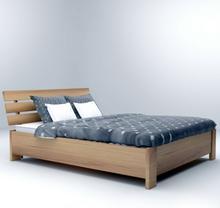 Ekodom Łóżko HALDEN PLUS drewniane Rozmiar 120x200 Kolor wybarwienia Ciemny Orzech