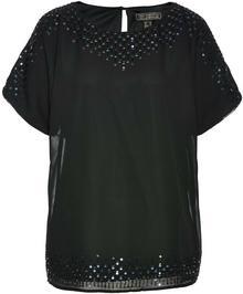 Bonprix Tunika bluzkowa z cekinami czarny