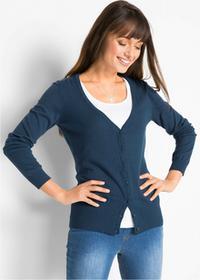 Bonprix Sweter rozpinany jasnoróżowy