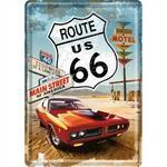 Pocztówka 14x10 Cm Route 66 Red Car