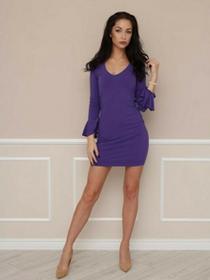 Sukienka Lily fioletowa LL100002_RAL4005