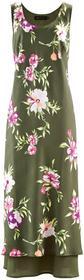 Bonprix Sukienka oliwkowy w kwiaty