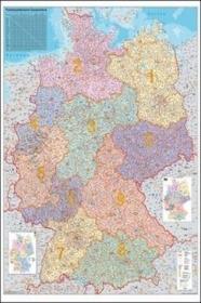 Niemcy mapa ścienna kody pocztowe 1:750 000 Stiefel
