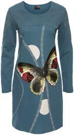 Bonprix Sukienka dresowa niebieskozielony morski kolorowy