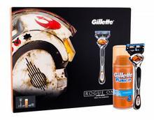 Gillette Fusion Proglide Rogue One A Star Wars zestaw Maszynka z jednym ostrzem 1 szt + Wkład 2 szt + Żel do golenia Fusion Hydrating 75 ml M