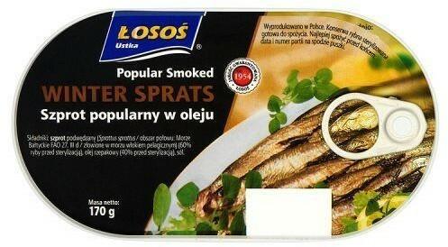 Łosoś Szprot popularny w oleju 170 g Ustka