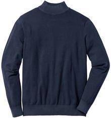 Bonprix Sweter ze stójką Regular Fit ciemnoniebieski