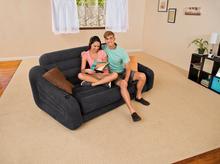 Intex dmuchana sofa rozkładana, zielona, 193 x 231 x 71 cm 0774107