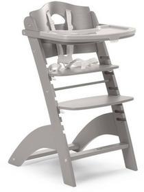 Childhome Krzesełko drewniane do karmienia dla niemowląt Lambda 2 - jasny szary - Childhome LAMBDA 2 JASNY SZARY