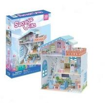 Cubicfun Puzzle 3D 112 el Seaside Villa Domek Dla Lalek P683h
