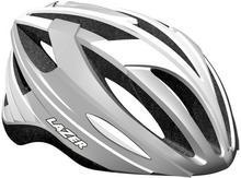 Lazer NEON kask rowerowy srebrno-biały