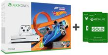Microsoft Xbox One S 500 GB Biały + Forza Horizon 3 + Forza Horizon 3 Hot Wheels + 6M Live Gold