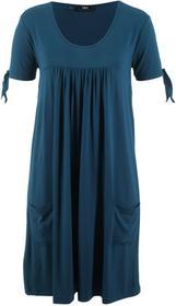 Bonprix Sukienka shirtowa, krótki rękaw ciemnoniebieski