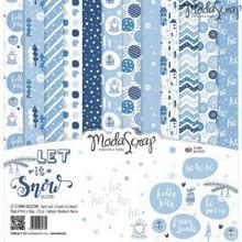 Zestaw zimowych papierów Let It Snow 30x30 cm