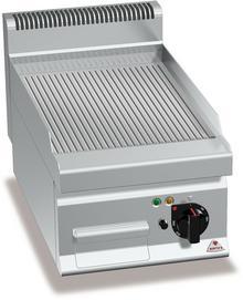 BERTO'S Płyta grillowa, gazowa, ze stali nierdzewnej, ryflowana, nastawna, 6,9 kW, 400x700x290 mm | BERTO'S, Macros 700, MULTIPAN, G7FR4B 18303000