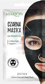 Marion Detox Aktywny Węgiel Czarna maska na tkaninie 1 szt.