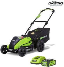 GreenWorks Tools GreenWorks Akumulatorowa Kosiarka 45 cm DigiPro G-MAX 4w1 40 V zestaw z 1 baterią 4 Ah i 1 ładowarką 2500407VB) NAJTANIEJ W DECOFIRE!