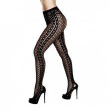 Baci Lingerie Rajstopy - Braided Jacquard Pantyhose One Size