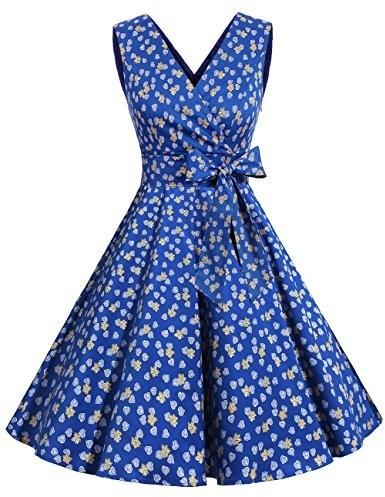 Dresstells dresstells XX Vintage Retro Rockabilly Sukienka bez rękawów świąteczne impreza sukienka koktajlowa - xxxl B06ZYNC85Y