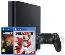 Sony PlayStation 4 Slim 500GB Czarny + Minecraft + NBA 2K18