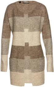Bonprix Sweter bez zapięcia brązowy