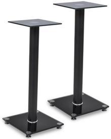 vidaXL 2 szklane stojaki na głośniki (każdy z czarnym filarem)