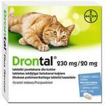 BAYER Drontal dla kotów 2tabl środek przeciwpasożytniczy