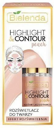 BIELENDA Bielenda Highlight & Contour Rozświetlacz do twarzy Peach - efekt rozświetlenia 15ml