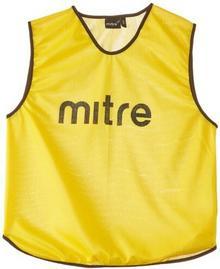 Mitre unisex Pro piłka nożna-Training kamizelki, Pro Training, żółty/czarny, dla dzieci T21503YAK-JNR